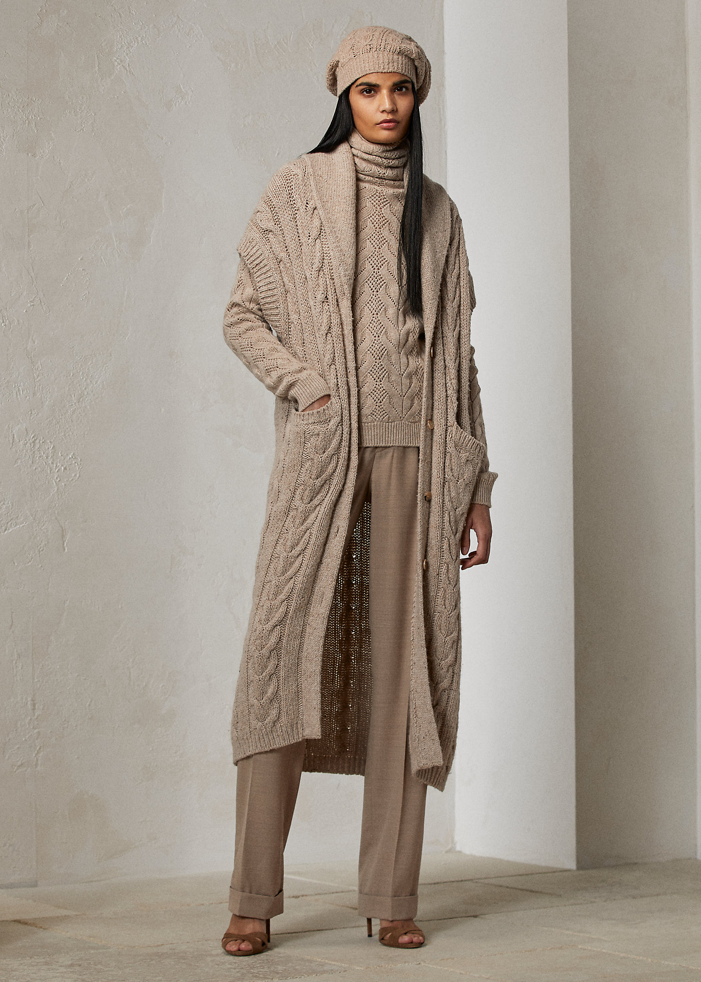 Ralph Lauren Collection Cashmere Shawl-Collar Cardigan Sweater 1