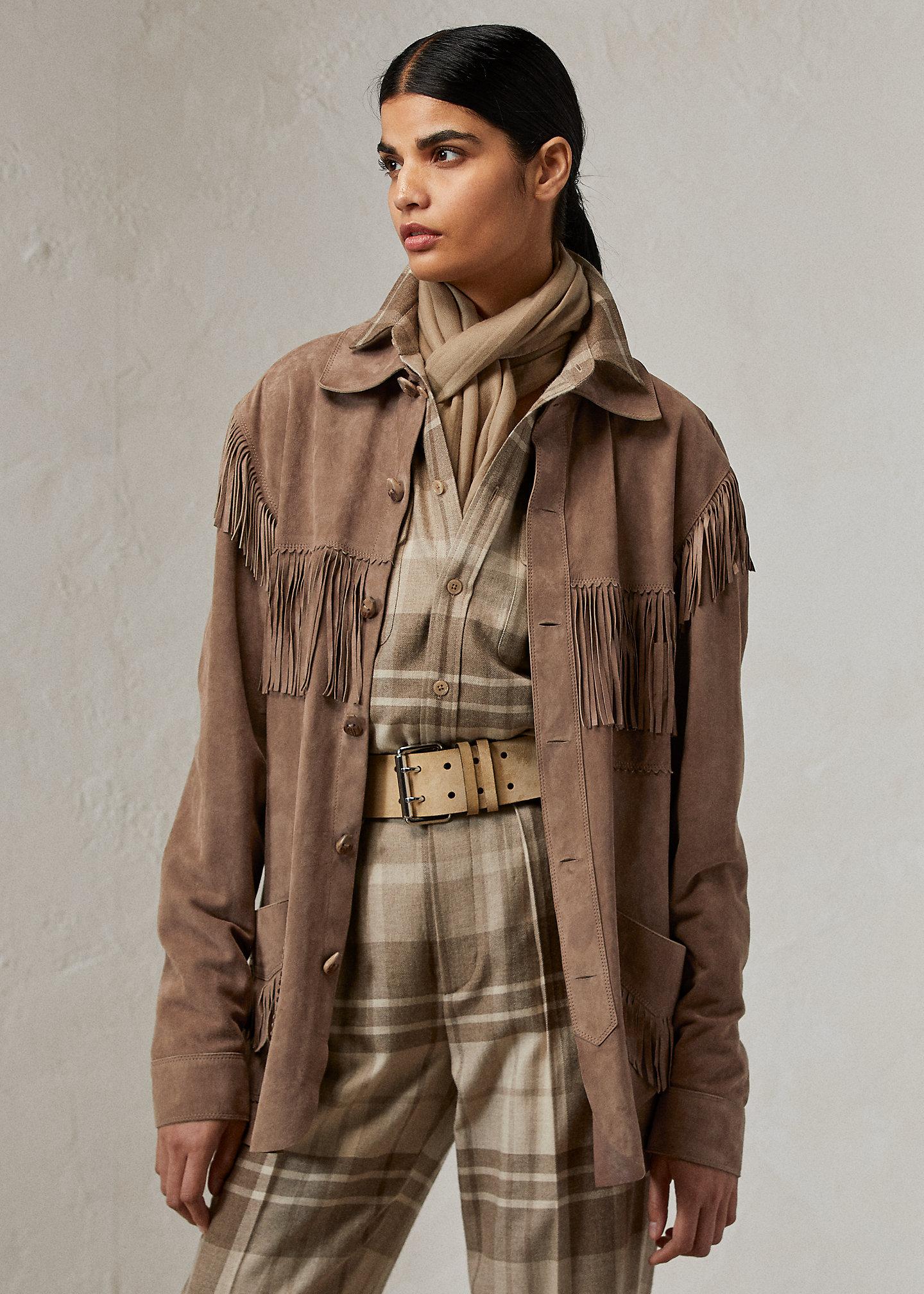 Ralph Lauren Collection Dasha Lamb-Suede Shirt Jacket 1
