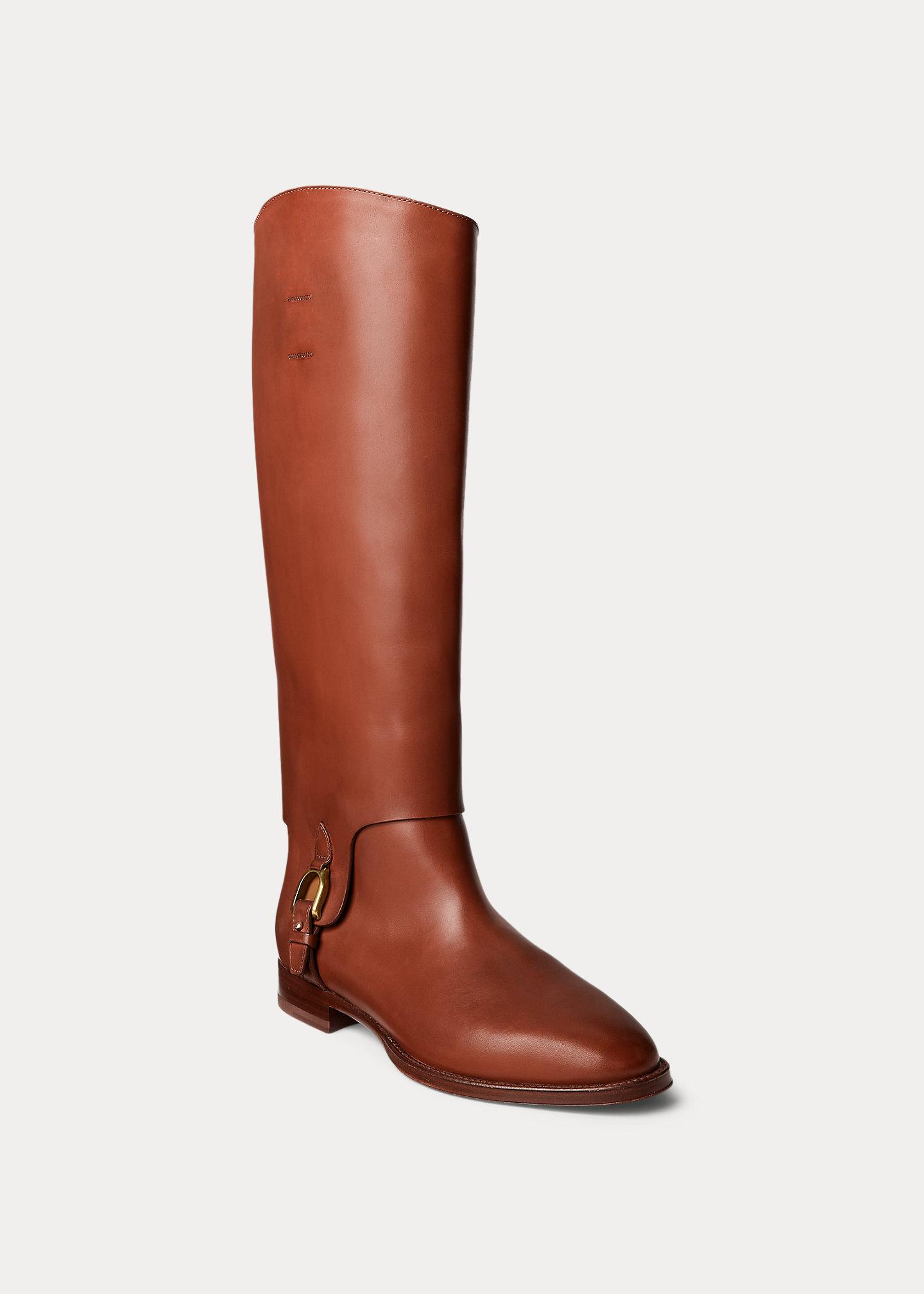 Ralph Lauren Collection Reia Burnished Welington Boot 2