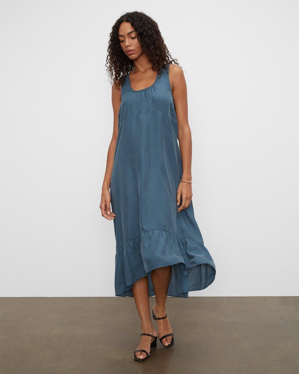 Clubmonaco Silk Parachute Maxi Dress