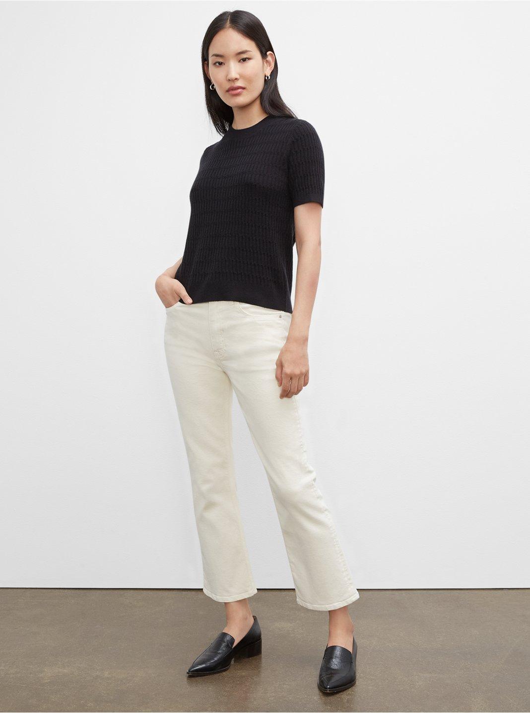 클럽 모나코 데님진 Club Monaco Kick Crop Jeans,Egret