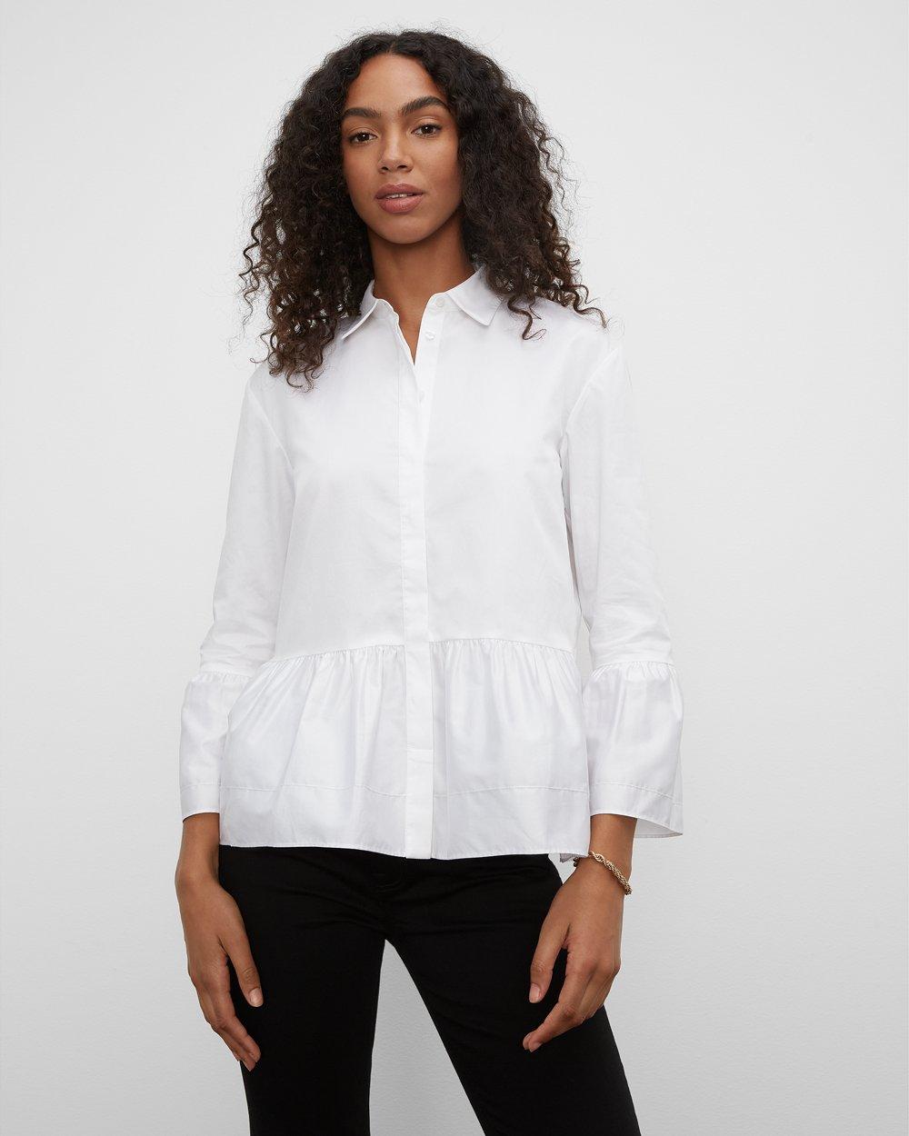 Clubmonaco Ruched Hem Shirt