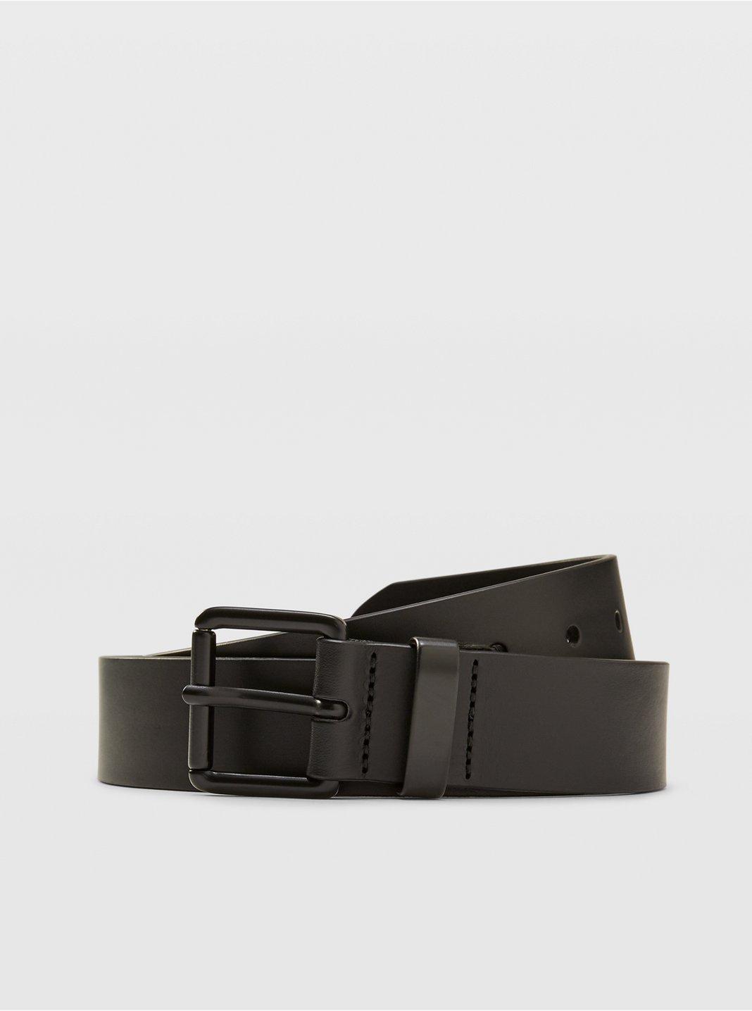 클럽 모나코 벨트 Club Monaco Double Face Leather Belt,Black