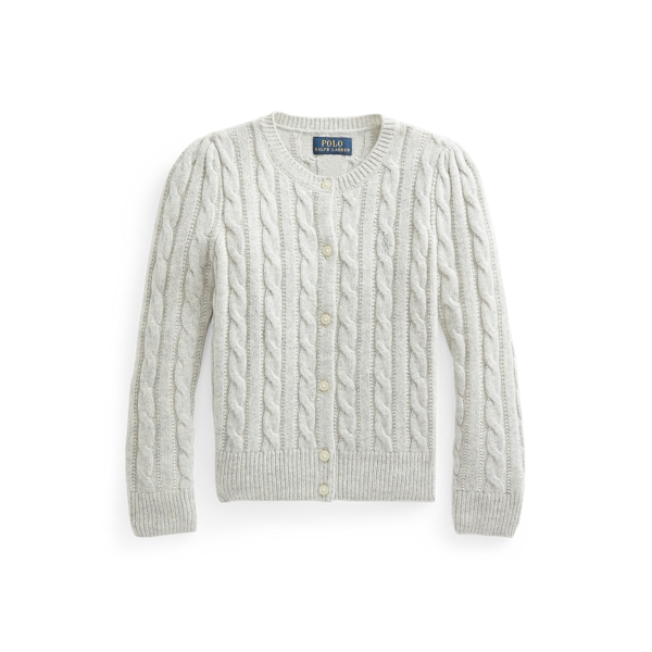 폴로 랄프로렌 Polo Ralph Lauren Metallic Cable Knit Cardigan,Grey