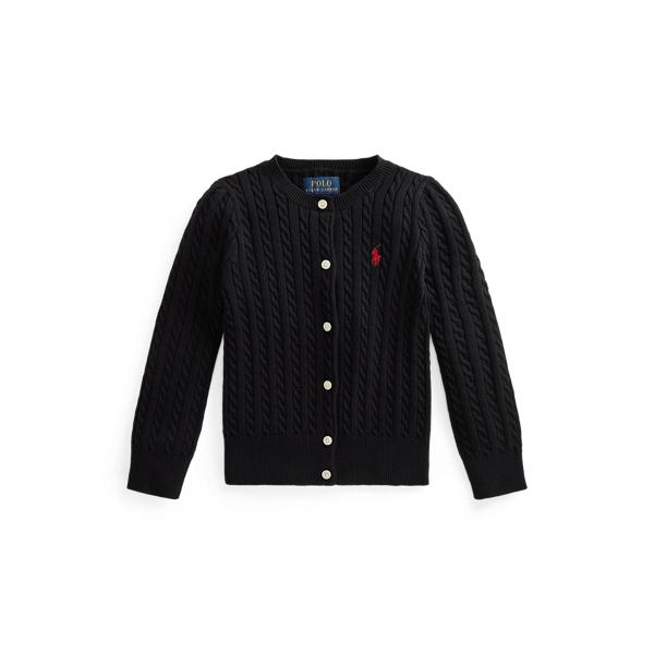 폴로 랄프로렌 Polo Ralph Lauren Mini Cable Cotton Cardigan,Polo Black/Red Pp