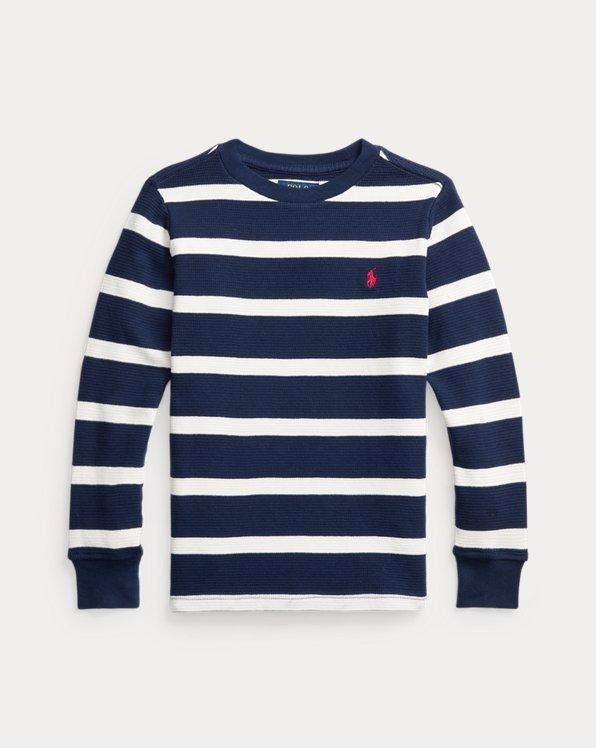 T-shirt manches longues en coton gaufré