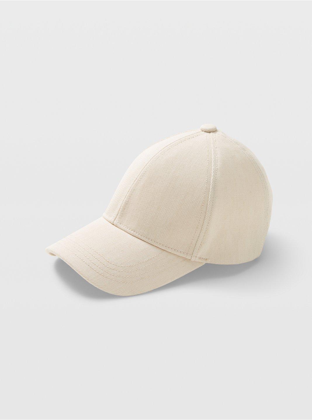 클럽 모나코 볼캡 Club Monaco CM Denim Baseball Cap,Cream Base