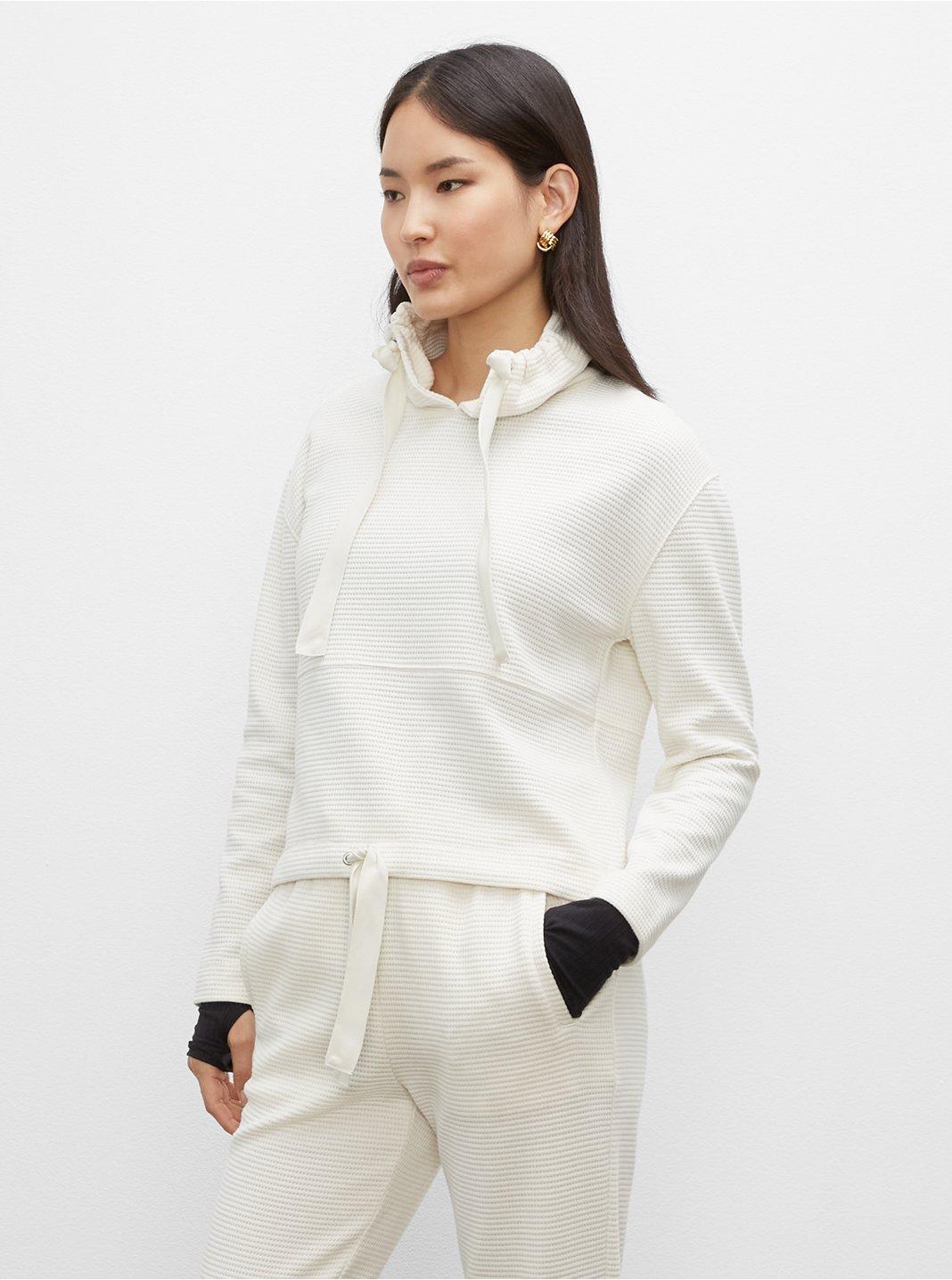 클럽 모나코스웻셔츠 Club Monaco Waffle Sweatshirt,Ivory
