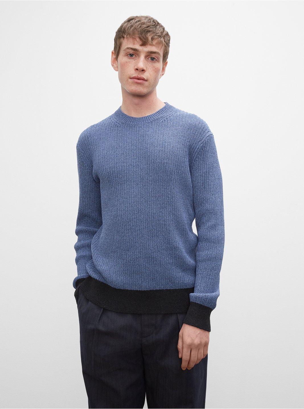 클럽 모나코 스웨터 Club Monaco Long Sleeve Feel Good Crewneck Sweater,Light Blue