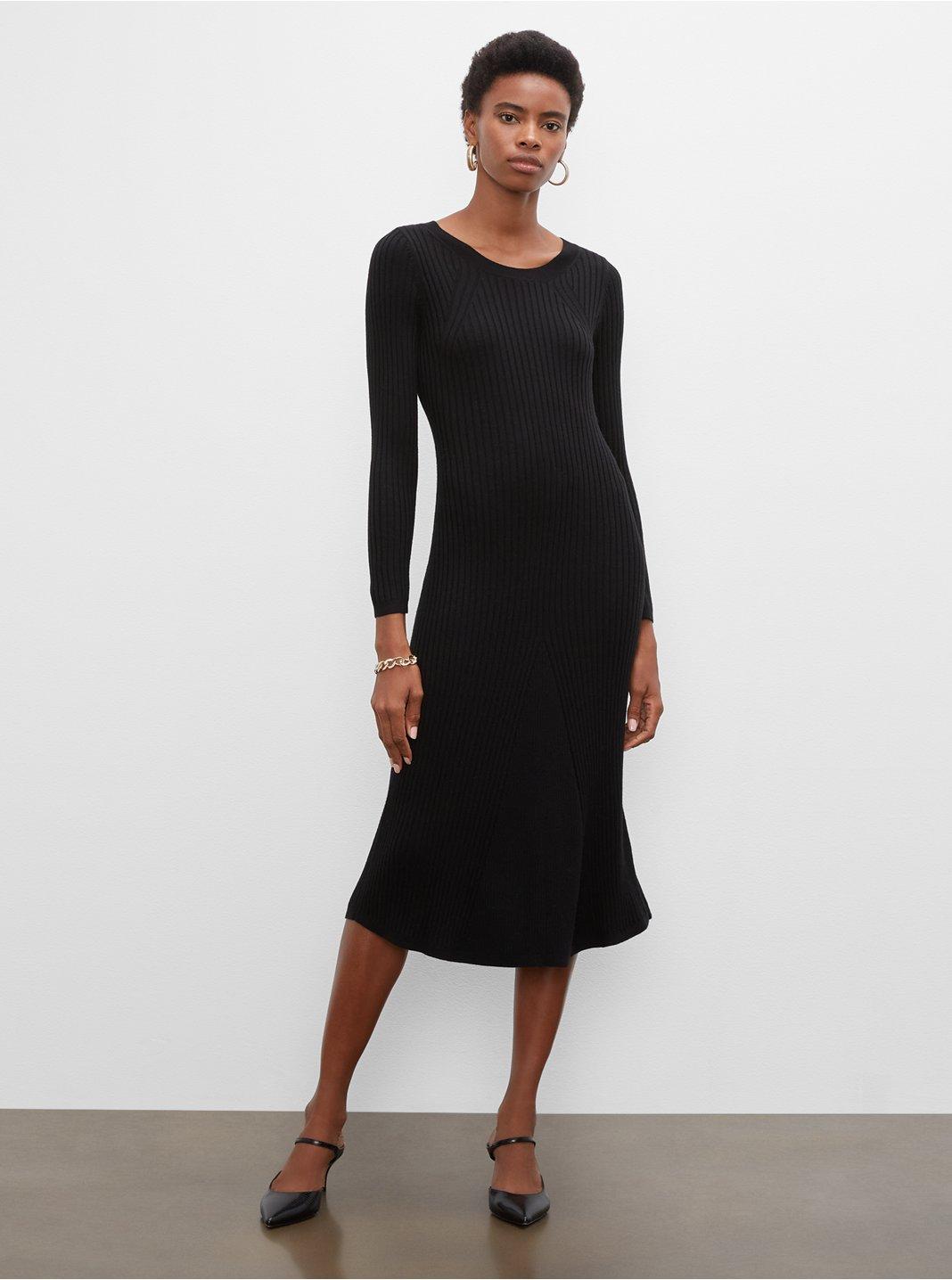 클럽 모나코 슬림 롱 스웨터 원피스 Club Monaco Slim Long Sweater Dress,Black