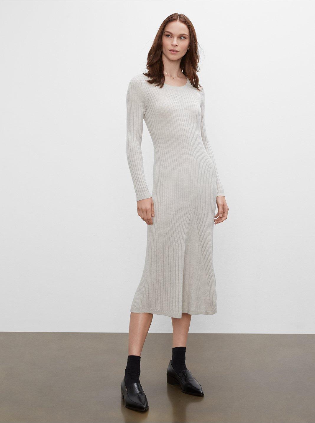 클럽 모나코 우먼 스웨터 Club Monaco Slim Long Sweater Dress,Grey