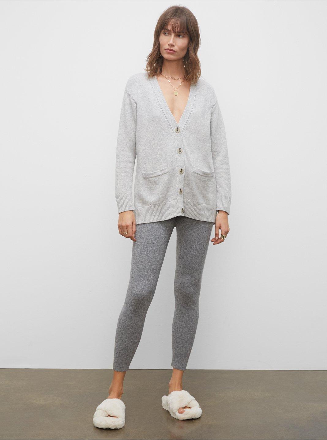 클럽 모나코 우먼 레깅스 Club Monaco Wool & Cashmere Blend Leggings,Grey Htr