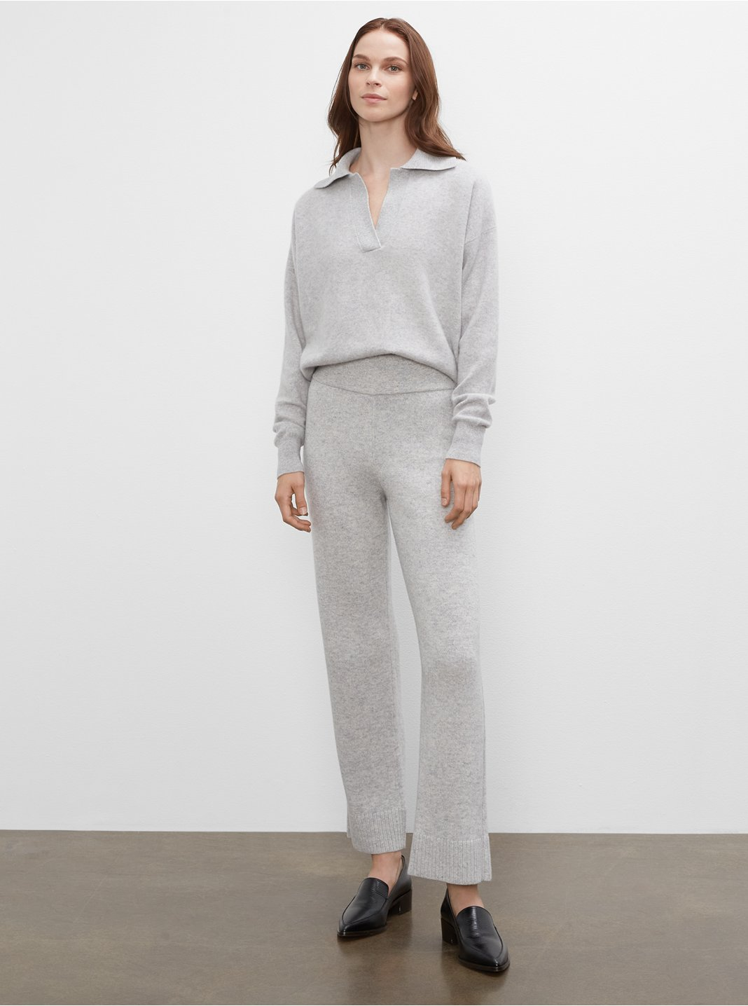 클럽 모나코 우먼 롱 스웨터 팬츠 Club Monaco Long Sweater Pants,Grey