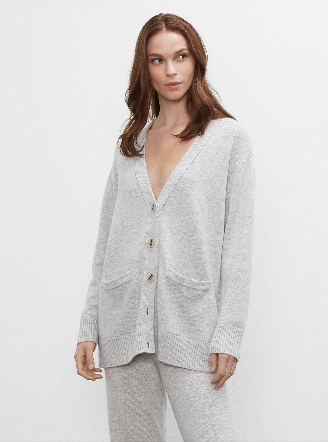 클럽 모나코 우먼 가디건 Club Monaco Signature Easy Cardigan,Grey