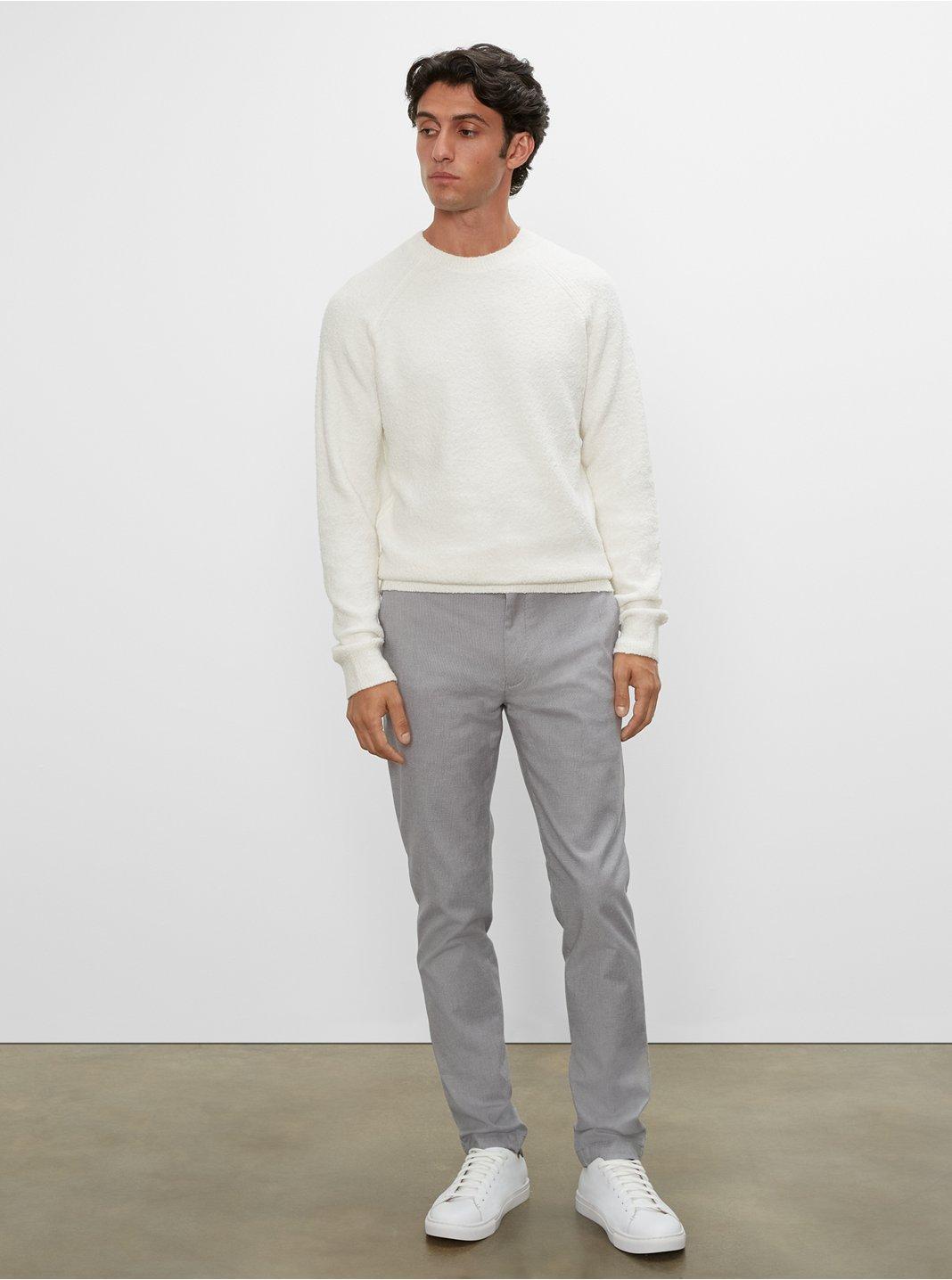 클럽 모나코 맨 치노 팬츠 Club Monaco Conner Textured Stretch Chino,Grey Multi