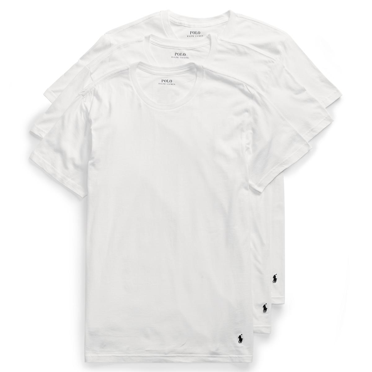 Men's Classic Crew T-Shirt & Undershirt | 3-Pack | Ralph Lauren
