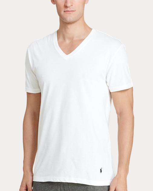 41a6d509e804 Men's Polo V-Neck T-Shirts | Three-Pack | Ralph Lauren