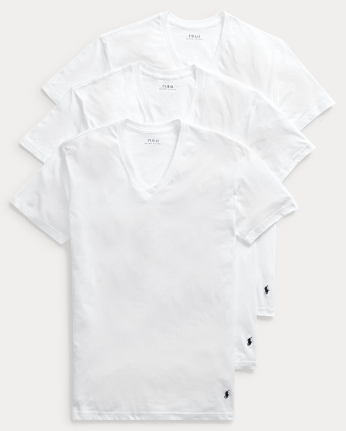 5db3e0c3 Men's Polo V-Neck T-Shirts | Three-Pack | Ralph Lauren
