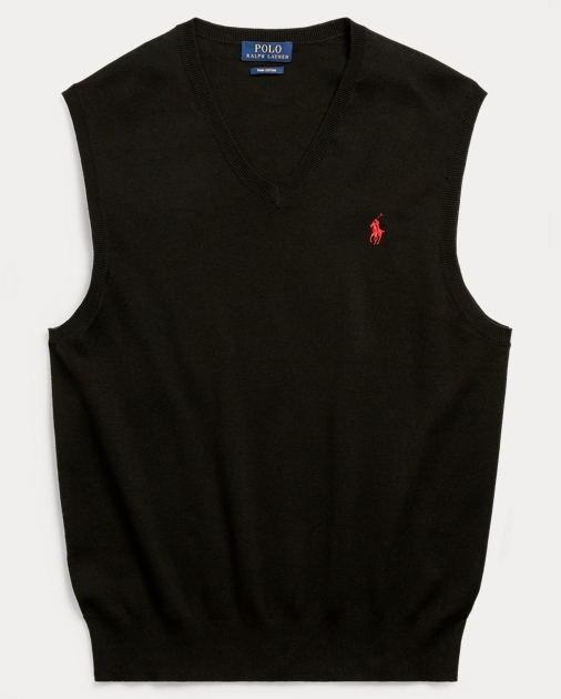 e689809cadcb Cotton V-Neck Sweater Vest | V-Neck Sweaters | Ralph Lauren