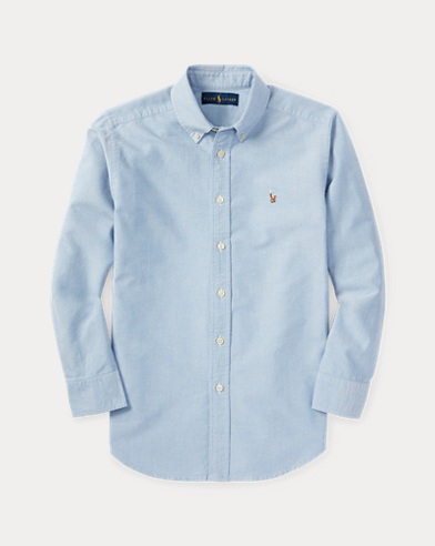 Solid Cotton Oxford Shirt