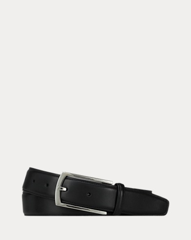 Leather Rectangle-Buckle Belt
