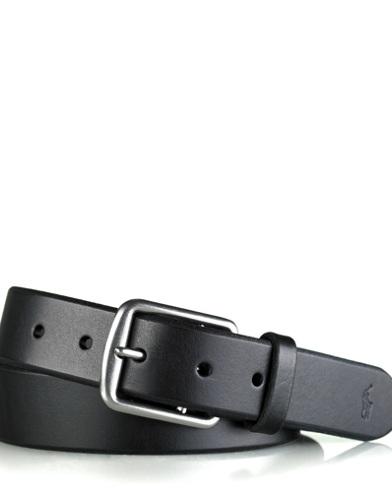 Cintura in pelle color cuoio