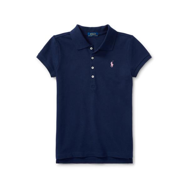 폴로 랄프로렌 걸즈 폴로셔츠 Polo Ralph Lauren Cotton Polo Shirt,French Navy
