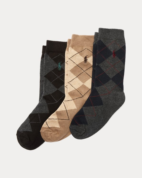 Argyle Sock 3-Pack