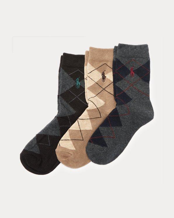 Argyle Sock 3-Pack