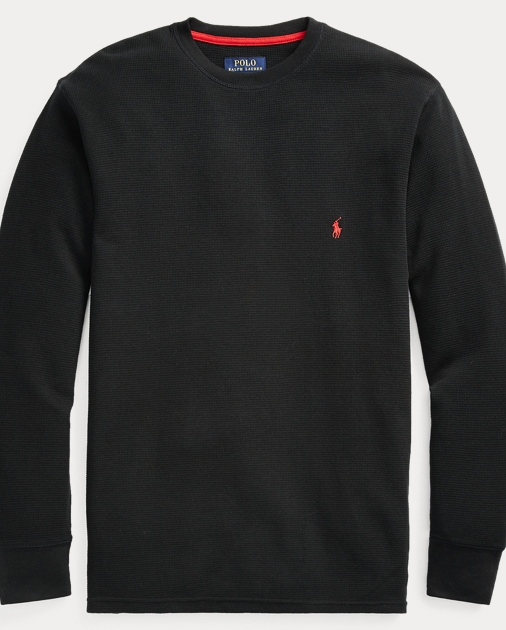 fb848dadb7451 Polo Ralph Lauren Waffle-Knit Crewneck Thermal 1