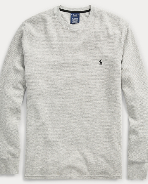 4d90ebba produt-image-0.0. produt-image-1.0. produt-image-2.0. Men's Styles: Take  40% Off When You Spend $125+ Waffle-Knit Crewneck Thermal. Polo Ralph Lauren