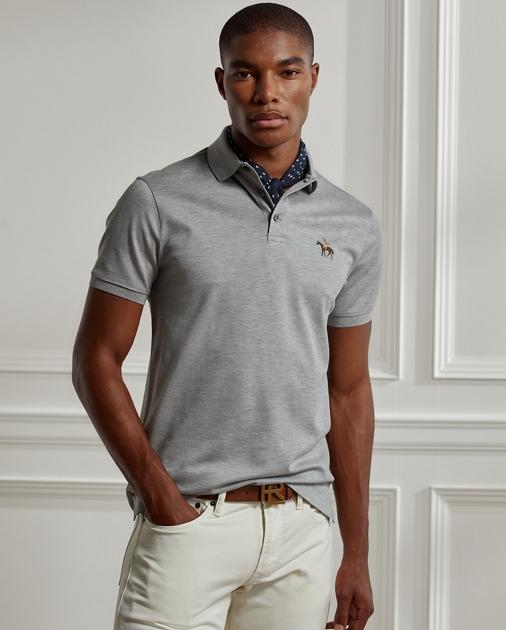 c897dd91 Custom Fit Piqué Polo Shirt | Custom Slim Polo Shirts | Ralph Lauren