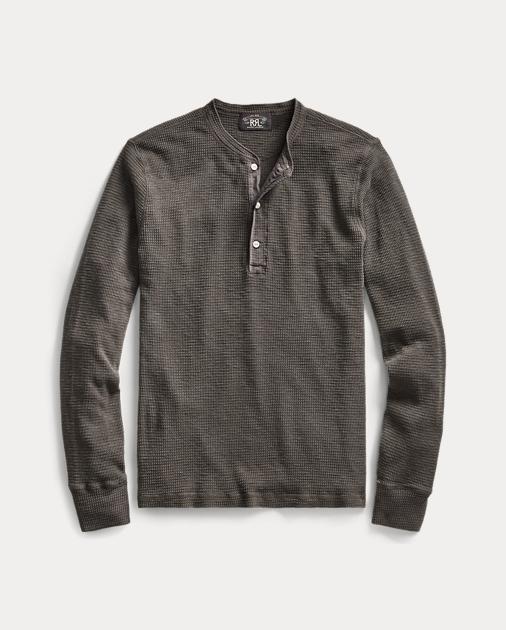 e47e1293 Men's RRL Long Sleeve Thermal Henley Shirt | Ralph Lauren