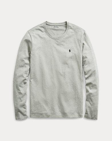 Langärmliges Jersey-Rundhalsshirt