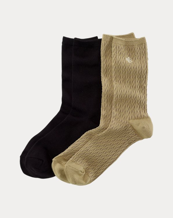 Cable-Knit Trouser Sock 2-Pack