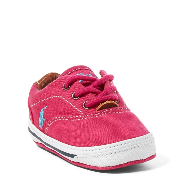 Ralph Lauren Vaughn Canvas Sneaker Raspberry Canvas 3 (6-9M)