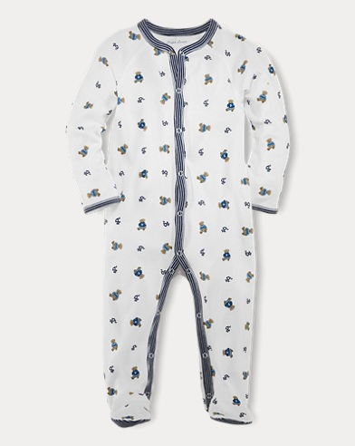 Bear-Print Coverall