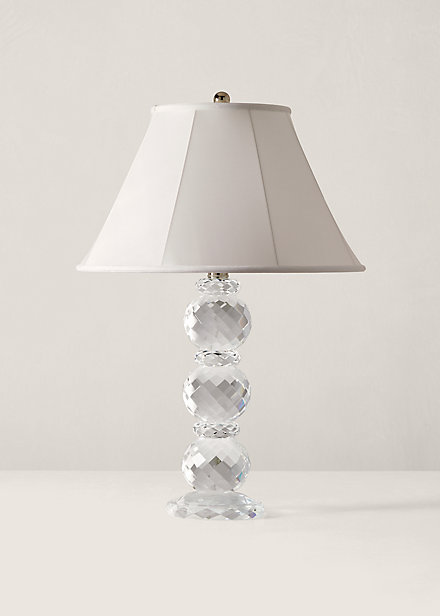 Polo RalphLauren Faceted Crystal Lamp