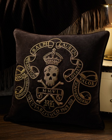 Maddox Skull Throw Pillow