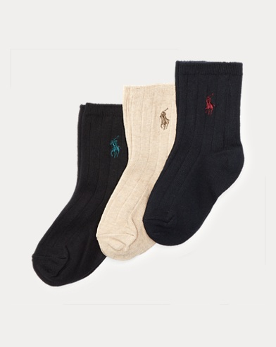 Ribbed Dress Socks 3-Pack