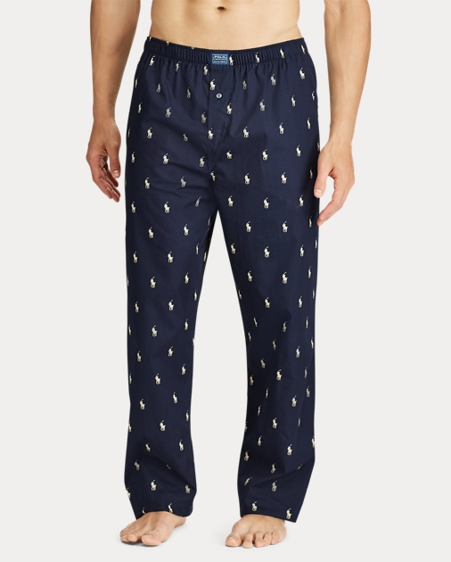 4e6eafd3ac Men's Cotton Allover Pony Pajama & Sleep Pants | Ralph Lauren