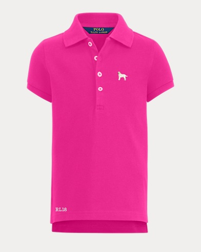 Girl's Dog Polo Shirt