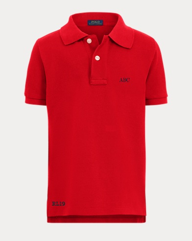 Boy's Monogram Polo Shirt