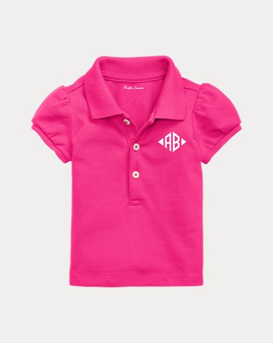 Baby Girl Monogram Polo Shirt
