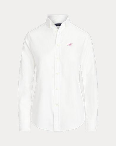 Camicia Oxford con monogramma donna