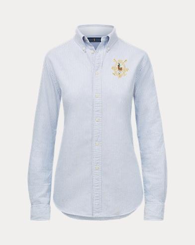 Women's Dog Oxford Shirt