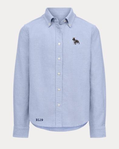 Girl's Dog Oxford Shirt