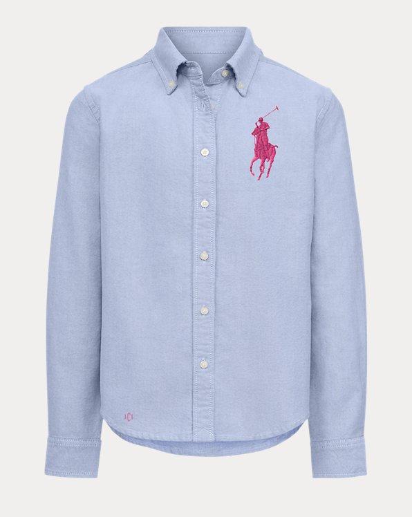 Oxfordhemd mit Big Pony für Mädchen