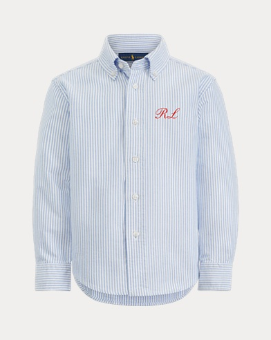 Boy's Dog Oxford Shirt