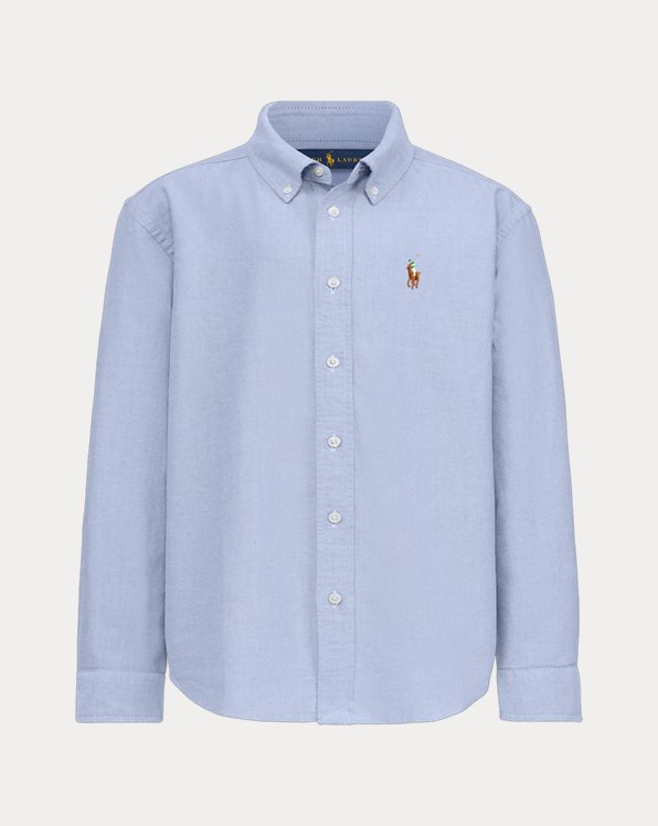 Boy's Bear Oxford Shirt